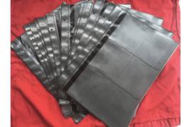 Zo goed als Nieuw! ; Gebruikt; Partij van 17 stuks Importa PSIII Bladen Zwart Glimmend Luxe met antireflectie voor 102 FDC's!