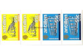 Nederlandse Antillen INHOUD van NVPH PB 6 Postfris Postzegel-/Automatenboekje Standaardserie 1983 2 x no. 762a + 2 x 763a  1985