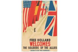 NVPH 1329-1332 Gestempeld Verzet en Bevrijding 1940-1945 1985 in speciaal programmaboekje van het Bevrijdingsconcert in het Concert en Congresgebouw De Doelen te Rotterdam op 5 mei 1985