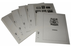 Lindner Inhouden / T-Voordruk albumbladen met folie voorbladen met stroken (Inhoud) Canada 1972-1982 (37 bladen) (Lindner 500A)