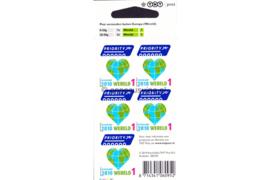 Nederland NVPH V2743 Postfris Velletje Wereld 1, hart/globe; 5 x Wereld 1 2010