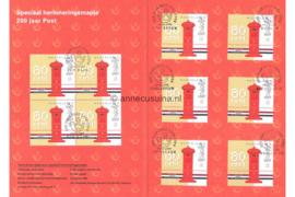 Nederland Speciaal Stempelmapje 200 jaar Post PTT Post 15 januari 1999 NVPH 1810 (10x) Gestempeld