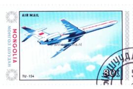 Mongolië Michel 1631 Gestempeld Vliegtuigen 1984