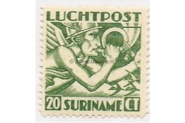 Suriname NVPH LP3 Postfris (20 cent) Mercuriuskop 1930