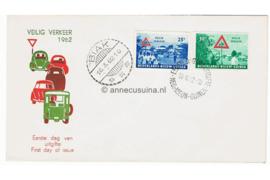 NVPH E8 Postfris Blanco met open klep Veilig Verkeer 1962