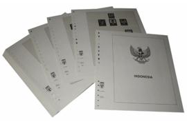 Lindner Inhouden / T-Voordruk albumbladen met folie voorbladen met stroken (Inhoud) Indonesië 1993-1998 (46 bladen) (Lindner 506-93)