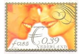 Nederland NVPH 1986 Postfris (Doorgestanst) (0,39/0,85) Huwelijkszegel in dubbele waarde 2001