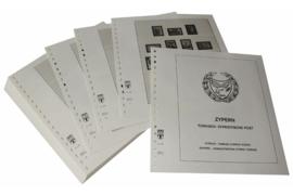 Lindner Inhouden / T-Voordruk albumbladen met folie voorbladen met stroken (Inhoud) Cyprus Turks-Cypr. Post 1974-1996 (48 bladen) (Lindner 298)