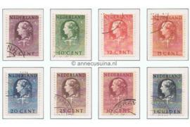 Nederland NVPH D33-D40 Gestempeld COUR INTERNATIONALE DE JUSTICE Letters & Cijfers