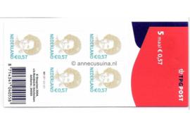 Nederland NVPH V2244 Gestempeld Velletje 5 x 0,57 euro met TPG Post logo 2004