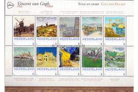 Nederland NVPH 3012-F-1 Postfris Overige velletjes (Persoonlijke Postzegels) Velletje Stad en Dorp Vincent van Gogh 1853-1890 2015