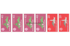 Nederlandse Antillen INHOUD van NVPH PB 1 Postfris Postzegel-/Automatenboekje Type Disberg, 2 x no. 559 + 4 x no. 561 1977