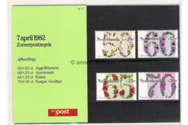 Nederland NVPH M3 (PZM3) Postfris Postzegelmapje Zomerzegels, Floriade 1982