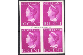 Nederland NVPH 335v Postfris (10 cent) (Blokje van vier) Koningin Wilhelmina 1940-1947