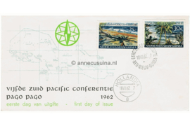 NVPH E10 Postfris Blanco met open klep Pago Pago 1962