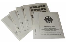 Lindner Inhouden / T-Voordruk albumbladen met folie voorbladen met stroken (Inhoud) Duitse Rijk Bezette Gebieden; Macedonië, Montenegro, Zante & Zara 1943-1945 (11 bladen) (Lindner 117E)