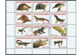 Zonnebloem 1437-1448 Postfris Reptielen 2007