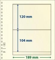 Lindner T-Blanco blad met 2 stroken (Lindner 802202) (per stuk)