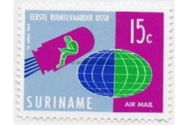 Suriname NVPH LP33a Postfris (15 cent) Ruimtevaart 1e oplage met Lichtblauw 1961