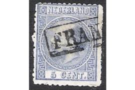 NVPH 7  Gestempeld FOTOLEVERING (5 cent) 3e emissie Koning Willem III