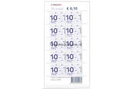 Nederland NVPH Va2135b Postfris Velletje 10 x 0,10 euro met TPG Post logo I-fosfor 2003