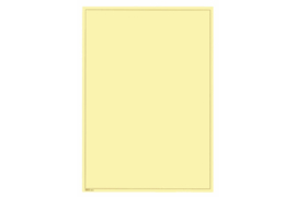 Lindner Blanco blad  Chamois (Geel) karton, Bruine kaderlijn (199 x 286) (Lindner 805b) (per stuk)
