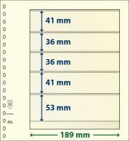 Lindner T-Blanco blad met 5 stroken (Lindner 802502) (per stuk)