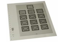 Lindner Inhouden / T-Voordruk albumbladen met folie voorbladen met stroken (Inhoud) Denemarken 13 Automaatzegels, waarvan 9 met waarde-indruk (1 blad) (Lindner 128AS)