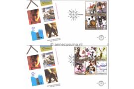 NVPH E507 Decemberzegels met toeslag op 2 enveloppen 2004