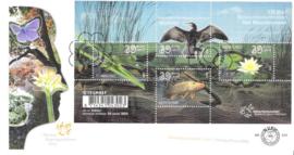 NVPH E512 100 jaar natuurmonumenten op 2 enveloppen 2005