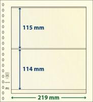 Lindner dT-Blanco blad met 2 stroken (Lindner dT802208) (per stuk)
