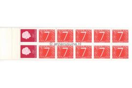 Nederland NVPH PB 1H9 Postfris Postzegelboekje 10 x 7ct cijfer v. Krimpen + 2 x 15ct Juliana 1964