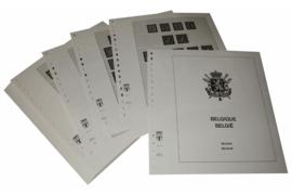 Lindner Inhouden / T-Voordruk albumbladen met folie voorbladen met stroken (Inhoud) België 1944-1956 (34 bladen) (Lindner 127)