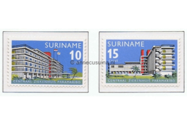NVPH 447-448 Postfris Ingebruikneming Centraal Ziekenhuis Parimaribo
