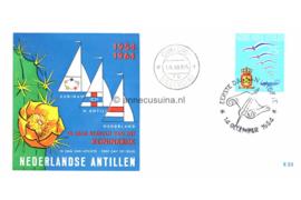 Nederlandse Antillen NVPH E33 (E33b; Bootjes en Cactusbloem) 10 jaar Statuut voor het Koninkrijk 1964