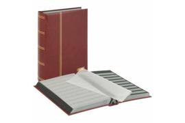 Lindner Insteekalbum Elegant/Luxe 64 blz. Zwarte bladen/Rode kaft (Lindner 1179-R)