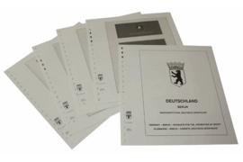 Lindner Inhouden / T-Voordruk albumbladen met folie voorbladen met stroken (Inhoud) Berlijn; Postzegelboekjes voor de Duitse sporthulp 1979-1990 (4 bladen) (Lindner 120C-SH)