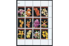Zonnebloem 1419-1430 Postfris Orchideeen 2007