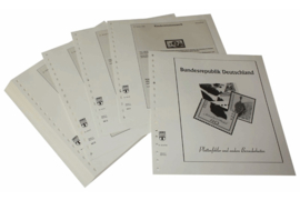 Lindner Inhouden / T-Voordruk albumbladen met folie voorbladen met stroken (Inhoud) Plaatfouten en andere bijzonderheden 1996-1997 (35 bladen) (Lindner 120BF-96)