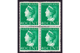 Nederland NVPH 343 Postfris (40 cent) (Blokje van vier) Koningin Wilhelmina (Konijnenburg) 1940-1947