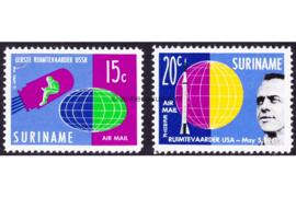Suriname NVPH LP33-LP34 Postfris Ruimtevaart (2e oplage) 1961