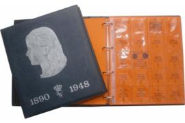 Hartberger Blauw Luxe Voordrukalbum Wilhelmina 1890-1948 deel 1