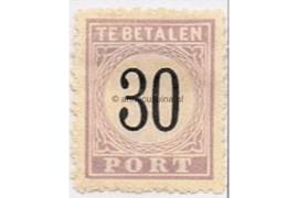 NVPH P6 Postfris (30 cent) Cijfer in zwart 1886-1888