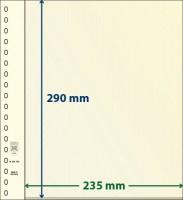 Lindner dT-Blanco blad met 1 strook (Lindner dT802106) (per stuk)