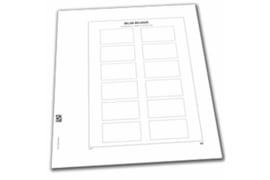 DAVO Luxe bladen België Automaatzegels type Amiel (AZ) (Per 5 stuks)