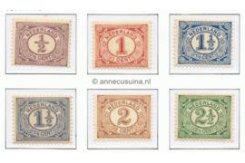 NVPH 50-55 Postfris Cijfer Vurtheim 1899-1913