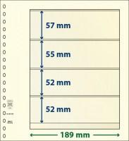 Lindner T-Blanco blad met 4 stroken (Lindner 802400) (per stuk)