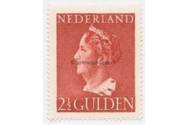 Nederland NVPH 347 Ongebruikt (2 1/2 Gulden) Koningin Wilhelmina (Konijnenburg) 1940-1947