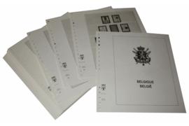 Lindner Inhouden / T-Voordruk albumbladen met folie voorbladen met stroken (Inhoud) België 1972-1980 (42 bladen) (Lindner 127b)