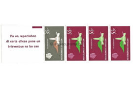 Nederlandse Antillen NVPH PB 2 Postfris Postzegel-/Automatenboekje Type Disberg, 1 x no. 560 + 3 x no. 562 1977